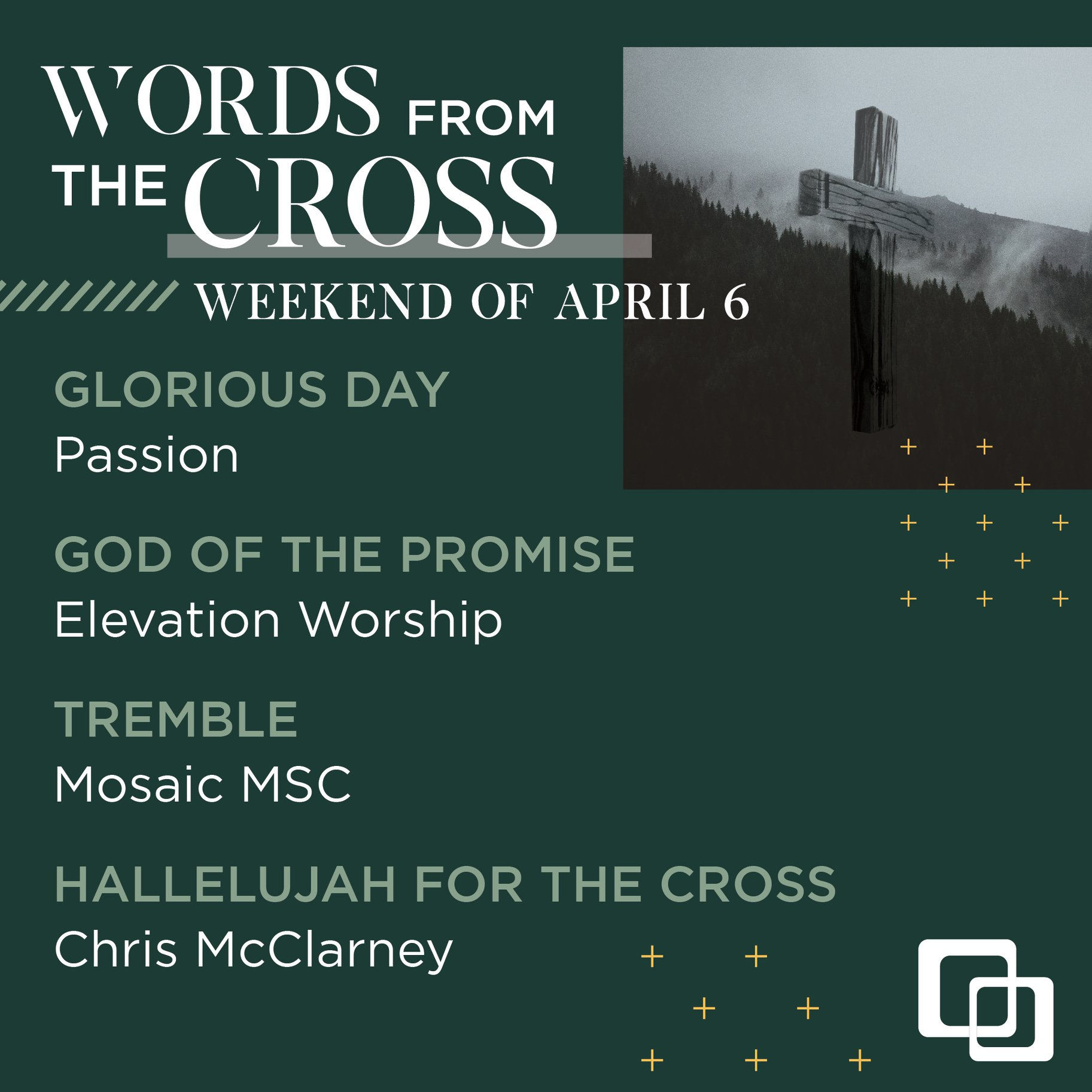 Words from the Cross week 3 set list - compassion